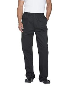 Dickies Chef Men's Classic Elastic Waist Zip Trouser