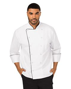 Dickies Chef Unisex Executive Chef Coat with Piping