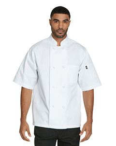 Dickies Chef Unisex Classic Knot Button Short Sleeve Chef Coat