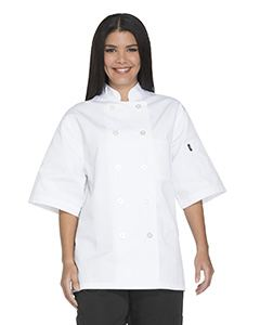 Dickies Chef Unisex Classic 10 Button Short Sleeve Chef Coat