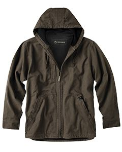 Dri Duck Men's 100% Cotton 12 oz. Canvas/Polyester Thermal Lining Hooded Tall Laredo Jacket