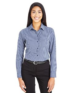 Devon & Jones CrownLux Performance Ladies Tonal Mini Check Shirt