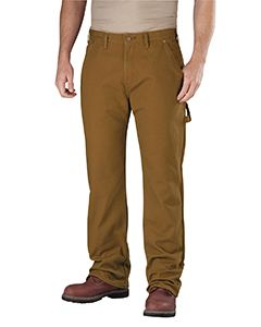 Dickies Drop Ship Men's Relaxed Straight-Fit Flannel-Lined Carpenter Duck Jean Pant