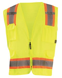 OccuNomix Men's High Visibility Two-Tones Surveyor Mesh Vest