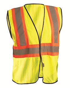 OccuNomix Men's High Visibility Value Two-Tone Safety Mesh Vest