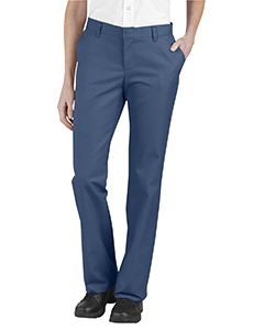 Dickies Drop Ship Ladies Relaxed Fit Flat Front Twill Pant