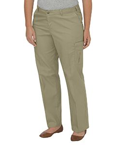 Dickies Drop Ship Ladies Premium Relaxed Plus-Size Straight Cargo Pant