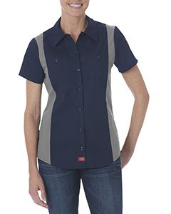 Dickies Drop Ship Ladies Industrial Short-Sleeve Color Block Shirt