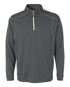 J America Adult Shadow Mesh 1/4 Zip
