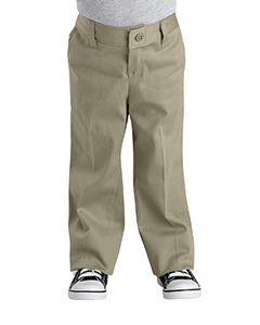 Dickies Drop Ship Girl's  Classic Fit Straight-Leg Twill Stretch Pant