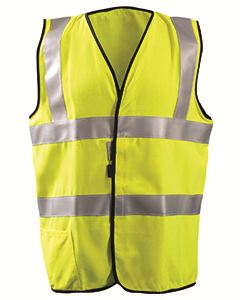 OccuNomix Men's High Visibility Classic Solid Standard Safety Vest