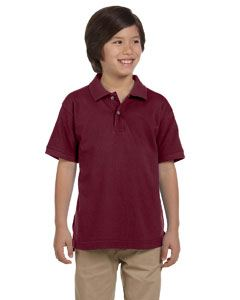 Harriton Youth 6 oz. Ringspun Cotton Pique Short-Sleeve Polo