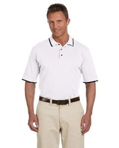 Harriton Adult 6 oz. Short-Sleeve Pique Polo with Tipping