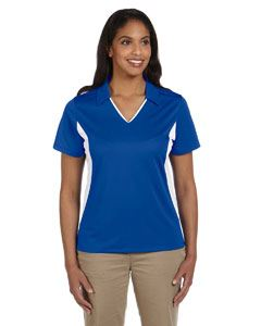 Harriton Ladies Side Blocked Micro-Pique Polo