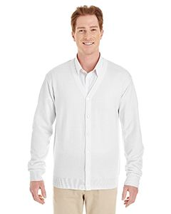 Harriton Men's Pilbloc V-Neck Button Cardigan Sweater