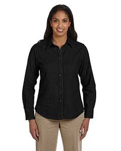 Harriton Ladies 6.5 oz. Long-Sleeve Denim Shirt