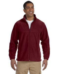 Harriton Men's Tall 8 oz. Full-Zip Fleece
