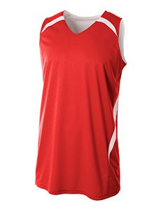 A4 Drop Ship Adult Performance Double/Double Reversible Basketball Jersey