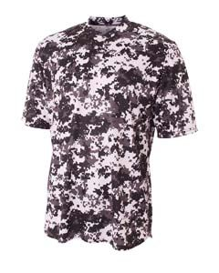 A4 Drop Ship Camo 2-Button Henley Shirt
