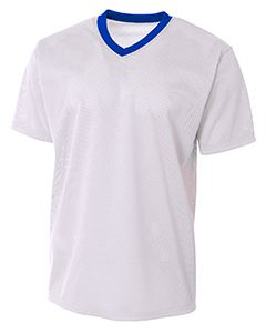 A4 Drop Ship Adult Polyester Mesh V-Neck