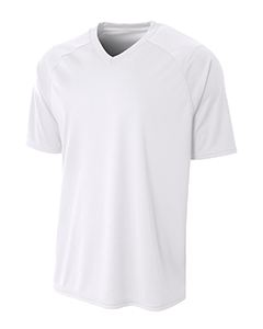 A4 Drop Ship Adult Polyester V-Neck Strike Jersey with Contrast Sleeve