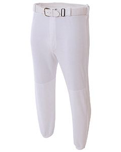 A4 Drop Ship Adult Double Play Polyester Baseball Pant with Elastic Waist and Belt Loops