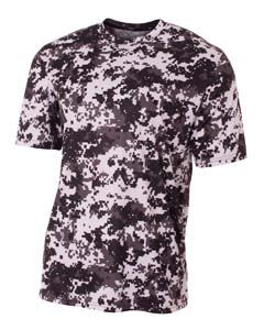 A4 Drop Ship Youth Camo Performance Crew T-Shirt