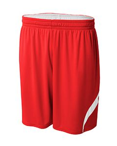 A4 Drop Ship Youth Performance Double/Double Reversible Basketball Short