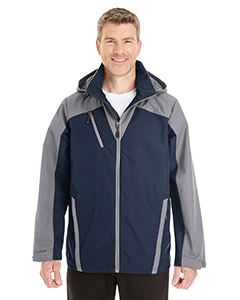 Ash City - North End Men's Embark Interactive Colorblock Shell with Reflective Printed Panels