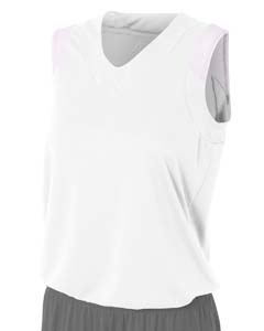 A4 Drop Ship Ladies Moisture Management V Neck Muscle Shirt