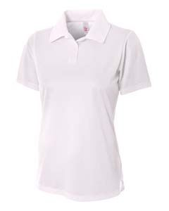A4 Drop Ship Ladies Textured Polo Shirt w/ Johnny Collar