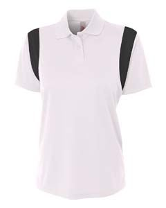 A4 Drop Ship Ladies Color Blocked Polo w/ Knit Collar