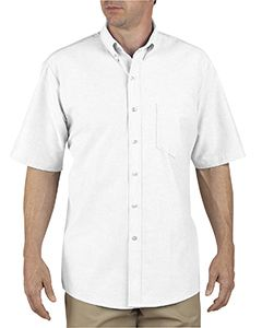 Dickies Drop Ship Unisex Button-Down Oxford Short-Sleeve Shirt