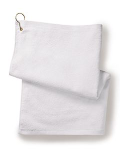 Towels Plus Deluxe Hemmed Hand Towel with Corner Grommet and Hook
