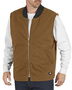 Dickies Drop Ship Unisex Sanded Duck Insulated Vest