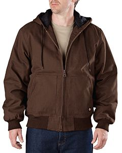 Dickies Drop Ship Men's Tall Sanded Duck Hooded Jacket