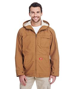 Dickies Drop Ship Men's 8.5 oz. Sanded Duck Sherpa-Lined Hooded Jacket