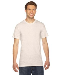 American Apparel Unisex Triblend USA Made Short-Sleeve Track T-Shirt