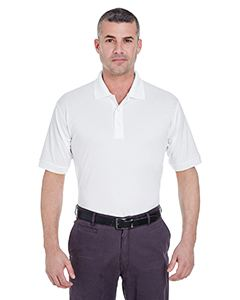 UltraClub Men's Platinum Performance Pique Polo with TempControl Technology