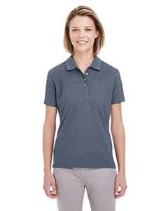 UltraClub Ladies Heathered Pique Polo