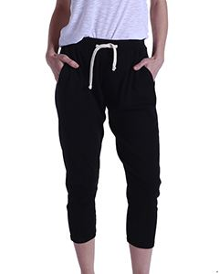 US Blanks Ladies 2x1 Ribbed Capri Sweatpant