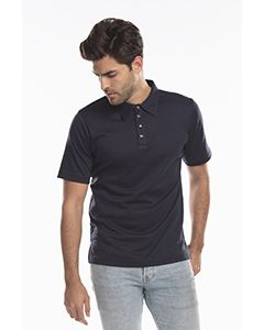 US Blanks Men's Jersey Interlock Polo T-Shirt