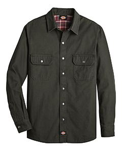 Dickies Drop Ship Men's Relaxed Fit Flannel Lined Shirt