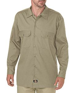 Dickies Drop Ship Men's FLEX Relaxed Fit Long-Sleeve Twill Work Shirt