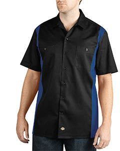 Dickies Drop Ship Men's Two-Tone Short-Sleeve Work Shirt