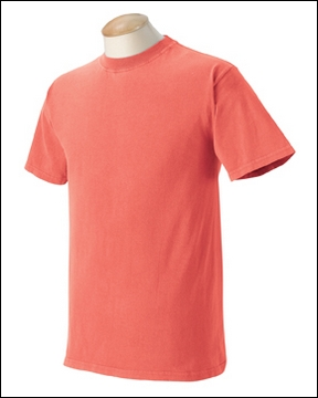 Bright salmon comfort color quotes for Neon colored t shirts wholesale